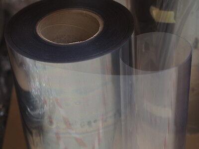 5 Meter Folie  0,4 mm  x  0,54 m  PET-A glasklar, hart, tiefziehfest,sehr stark