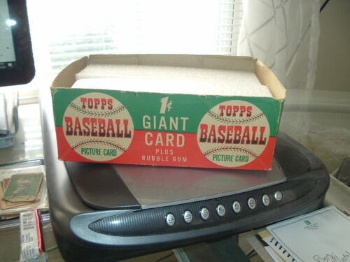 1952 Topps Gum Co. Baseball Card Empty Display Box 1 Cent Bottom Only Tough!