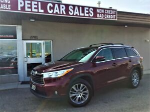 2015 Toyota Highlander XLE|8PSNGR|NAV|REARVIEW|LEATHER|ALLOYS|PW