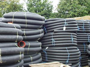 Perforated pipe coil for tree planting drainage 100mm X 25metre land drain