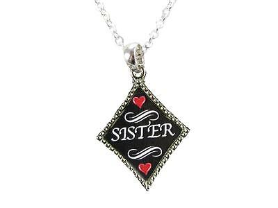 Sister Grandma Grandmother Silver Chain Necklace Diamond Charm Jewelry Jewelry Silver Diamond Charm Necklace