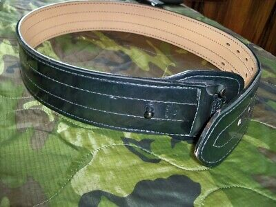 Gould Goodrich Belt Size 30 Heavy Duty Lined 4 Four Row Stitched No Buckle