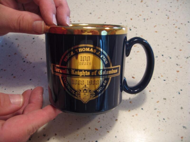 1888-1988 NORWALK CONN. KNIGHTS OF COLUMBUS COFFEE MUG COUNCIL NO. 46