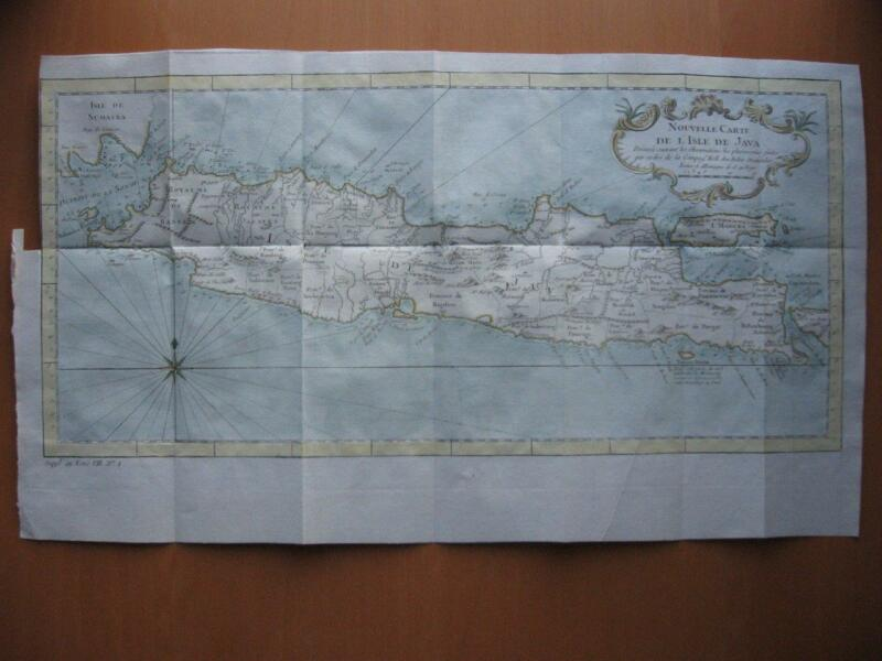 1766 - BELLIN after Dutch East India Company - Map JAVA