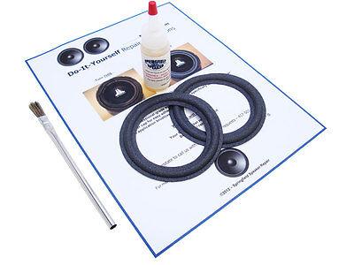 2 Ar Acoustic Research 4  Powered Partner Speaker Foam Surround Repair Kit  2Bp4