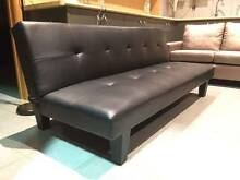 Brand New pu leather sofa bed black futon( free delivery) Collendina Corowa Area Preview