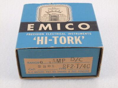 Vintage Emico Hi-tork D.c. Amp Voltage Meter 2301 Rf2 14c Electro Mechanical