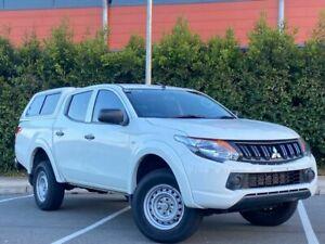 2018 Mitsubishi Triton MQ MY18 GLX Double Cab Marble White 5 Speed Sports Automatic Utility Blacktown Blacktown Area Preview