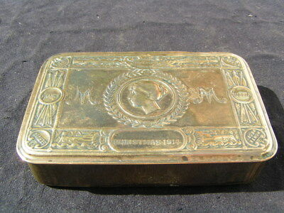WW1 1914 BRITISH ARMY PRINCESS MARY BRASS CHRISTMAS TIN for sale  Shipping to South Africa