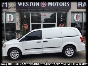 2014 Dodge Ram Van CARGO VAN*AUX*A/C*WOW LOW KM!!*