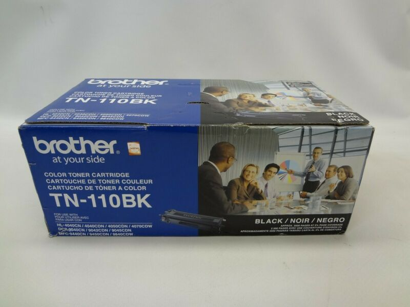 Brother TN-110BK Black Toner Print Cartridge *Damaged Box New Unused*