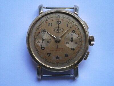 Vintage gents CHRONOGRAPH watch UGO mechanical watch working LANDERON 48 swiss