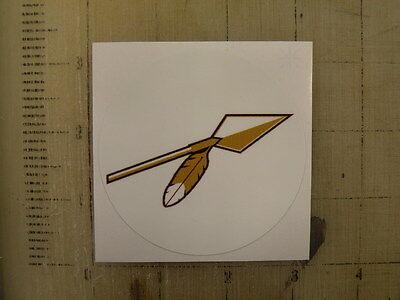 Vintage NFL Redskins spear football logo sticker decal