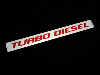 2 TURBODIESEL TURBO DIESEL PICK UP ENGINE FENDER HOOD EMBLEMS BADGE SILVER RED