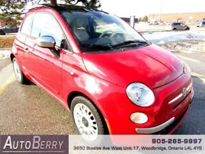 2012 Fiat 500 Lounge *** ACCIDENT FREE ** CERTIFIED ***