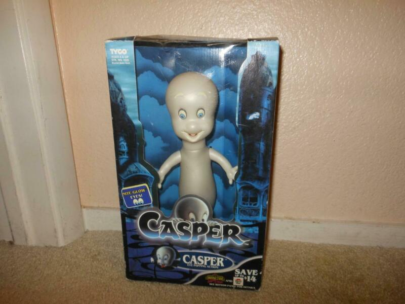 RARE NEW VINTAGE 1994 CASPER FRIENDLY GHOST EYE POPPING GLOW ACTION TOY SEALED
