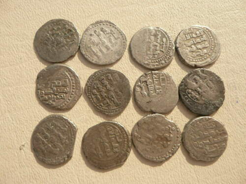 Lot of 12 Afghanistan Coins from the 1200s - 13th century