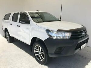 2017 Toyota Hilux GUN125R Workmate Double Cab White 6 Speed Sports Automatic Utility Mount Gambier Grant Area Preview