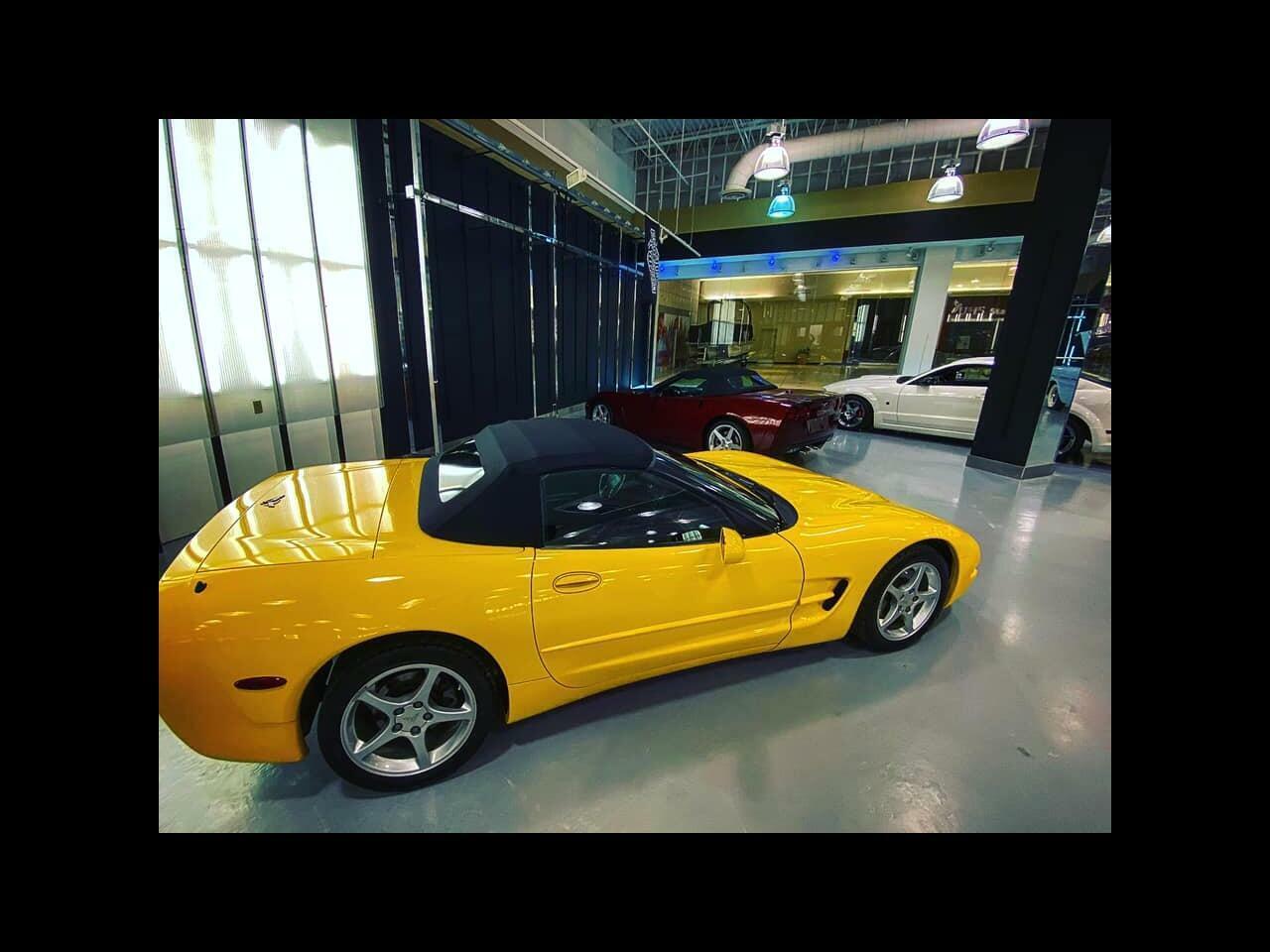 2002 Yellow Chevrolet Corvette Convertible    C5 Corvette Photo 3