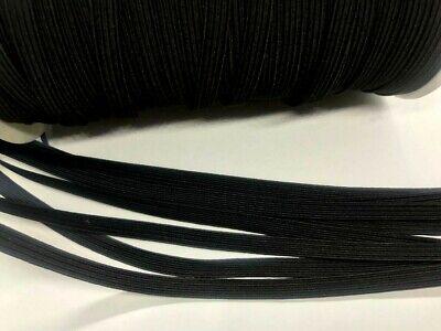 "10 yards Black Elastic Band 1/4"" Trim/Make Mask String Handle/Ribbon T181-5mm"