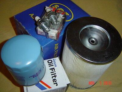 4x Zündkerzen + Luftfilter Ölfilter Nissan Vanette SLC22 Urvan E23B 2,0 2,4 2,4i ()