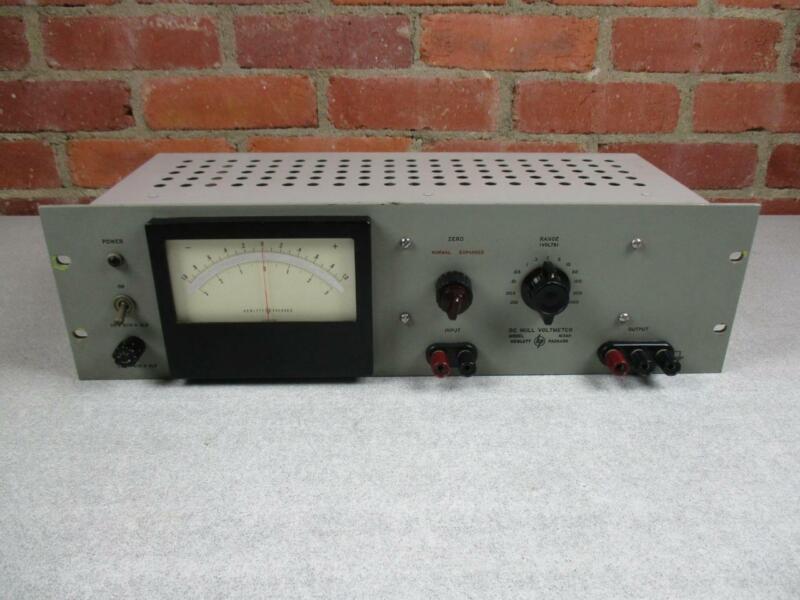 HP DC Null Voltmeter Model 413AR Rack Mount