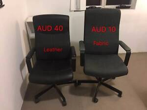 Office Chair:Fabric$10/Leather$40 Homebush West Strathfield Area Preview