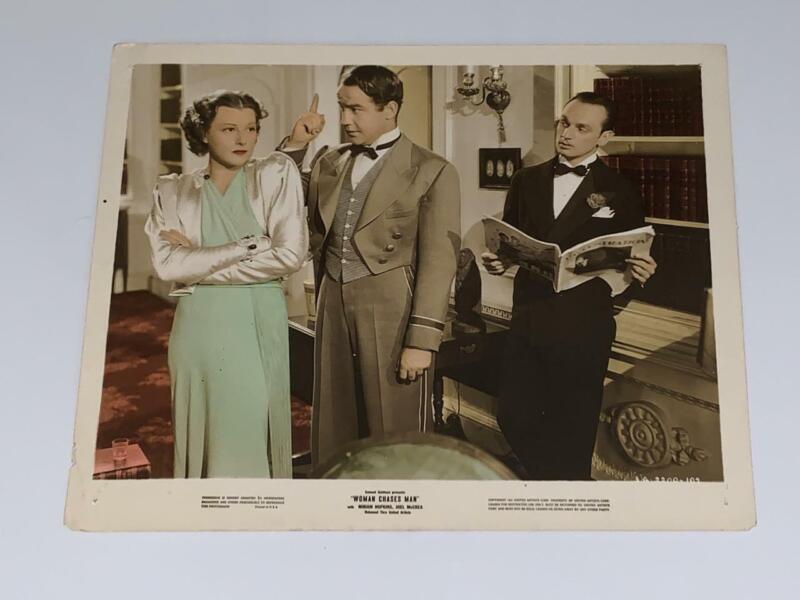Woman Chases Man (1937) 8x10 Color Press Kit Photo Miriam Hopkins Joel McCrea