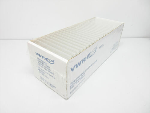 CASE OF VWR 44729-580 CULTURE TUBES, DISPOSABLE, BOROSILICATE GLASS 22 mL