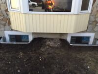 Basement window enlargement, new window cut outs and install