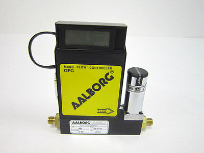 AALBORG GFC171 MASS FLOW CONTROLLER MFC 0 - 15 L/MIN GAS:: AIR