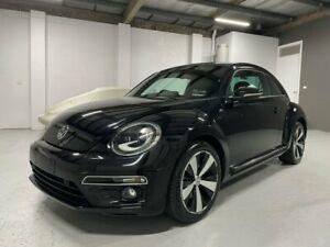 2014 Volkswagen Beetle 1L MY14 Coupe DSG Black 7 Speed Sports Automatic Dual Clutch Liftback