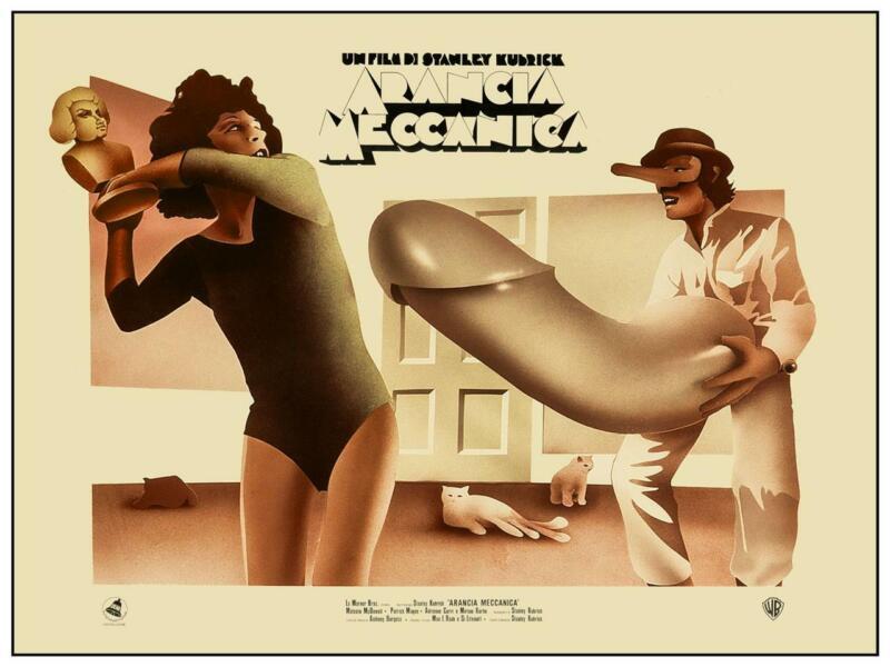 "A Clockwork Orange - 24"" POSTER - Stanley Kubrick ITALIAN wall art AMAZING IMAGE"