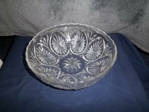 Vintage Anchor Hocking Prescut Glass Bowl, Clear, EAPC