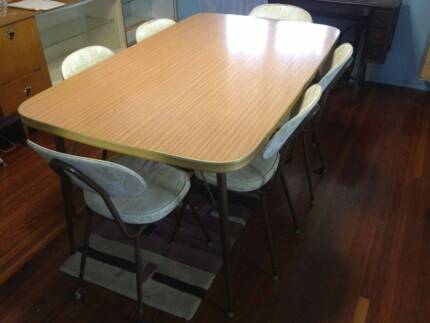 Mid Century 50s/60s Vintage Retro  Dining Table&4 Matching Chairs