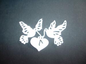 white doves die cuts x 10