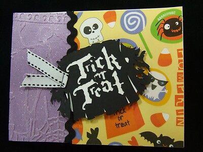 Handmade HALLOWEEN Card Using Stampin Up Trick Treat Embossed Tim Holtz Poison - Tim Holtz Halloween Cards