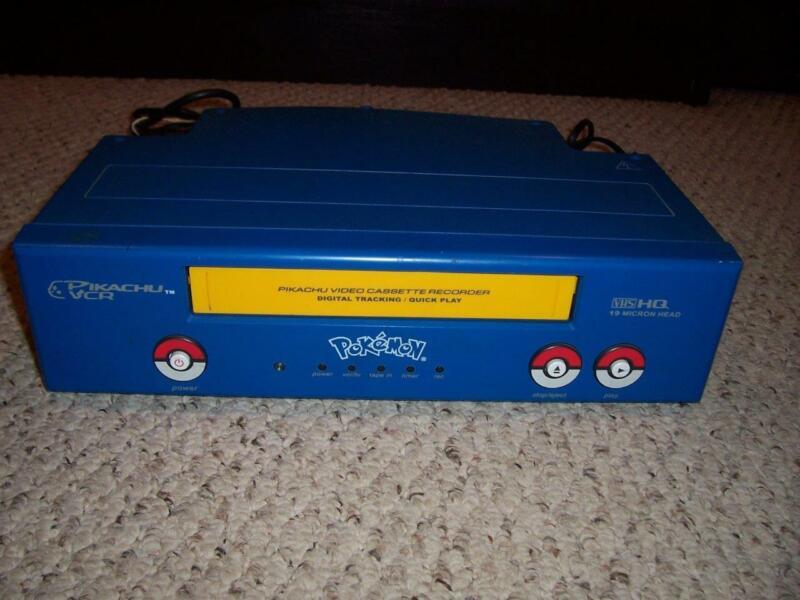 Vintage Pokemon Pikachu VCR VHS Player Recorder PK240D Funai Rare - Tested Works