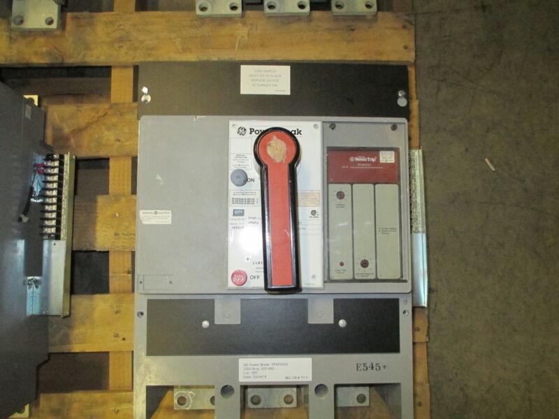 Ge Powerbreak Tpvf6620 2000a 3p 600v Mo/fm Circuit Breaker W/ Li Used E-ok