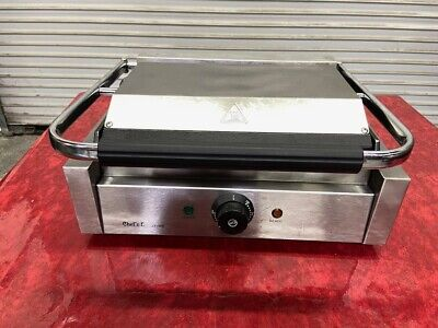 Flat Panini Smooth Sandwich Tortilla Contact Grill Electric Chef Supreme 4132