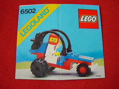 LEGO TOWN 6502 TURBO RACER CAR 100% COMPLETE VINTAGE SET 1987 (See my items)