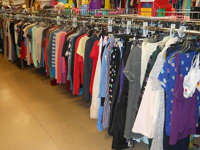 100pc Wholesale Mixed Lot of Men's Women's Teen Clothing for Resale