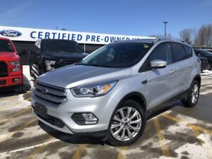 2017 Ford Escape Titanium 4WD|TWIN PANEL MOONROOF|SYNC 3|VOIC...