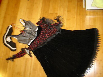 Steampunk pirate Victorian lady  sz S bustier velvet skirt shawl gypsy circus](Steampunk Victorian Lady Costume)