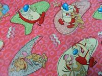 "1 BOLT 45/""  SPRINGS CREATIVE REN AND STIMPY CHARACTER TOSS FABRIC 15 YARDS"