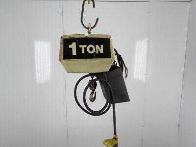 Coffing Ec-2016-3 1 Ton 2000lb Electric Chain Hoist 10 Lift 16fpm 230460v 3ph