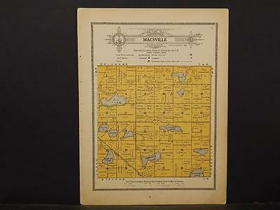 Minnesota, Grant County Map, 1914 Township of Macsville Y1#07