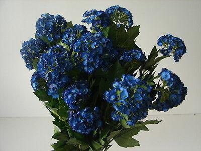 12 künstliche Schneeballzweige blau 70cm Seidenblumen Kunstblumen neu in OVP!