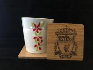LFC Wooden Coaster - CNC Laser engraved - LIVERPOOL FC