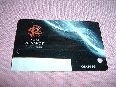 Caesars Entertainment Total Rewards Platinum Players Club Slot Card Las Vegas Nv